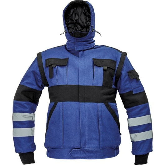 MAX REFLEX WINTER téli bélelt kabát kék/fekete
