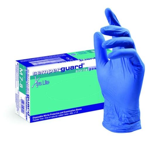 Semperguard XTRA LITE egyszerhasználatos púdermentes nitril kesztyű