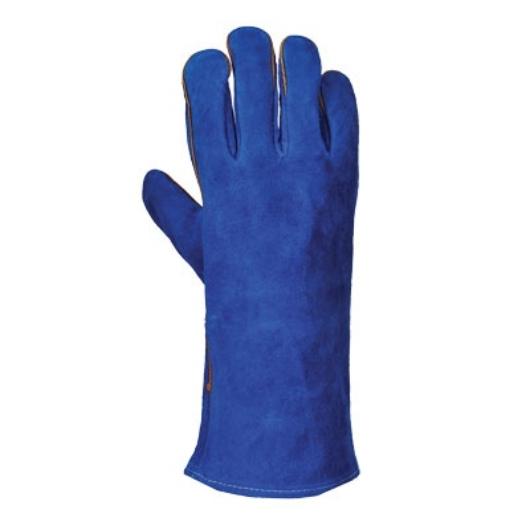 A510 Hegesztő hosszú szárú kesztyű, kék