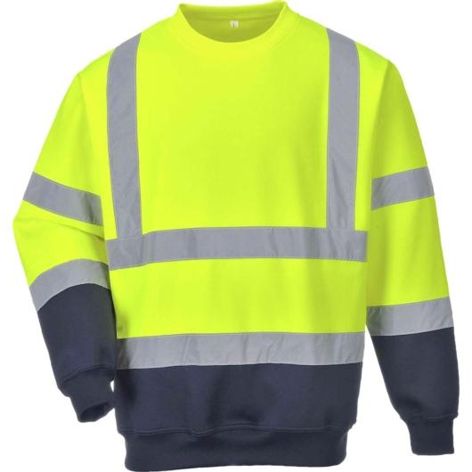 B306 Kéttónusú jól láthatósági pulóver