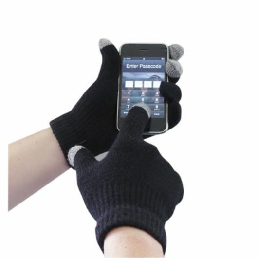 GL16B Touchscreen kötött kesztyű FEKETE