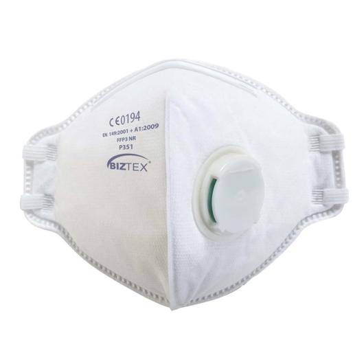 P351WHR FFP3 szelepes, félbehajtható légzésvédő maszk