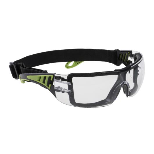 PS11CLR Tech Look Plus gumipántos védőszemüveg