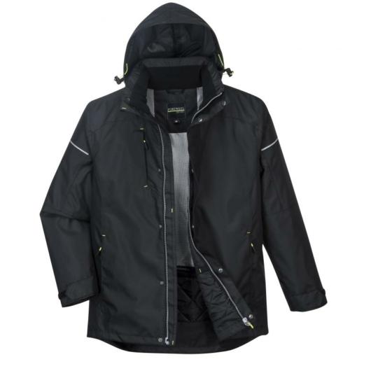 PW362 - PW3 téli kabát - fekete
