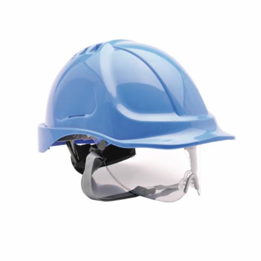 PW55 Védősisak védőszemüveggel kombinált