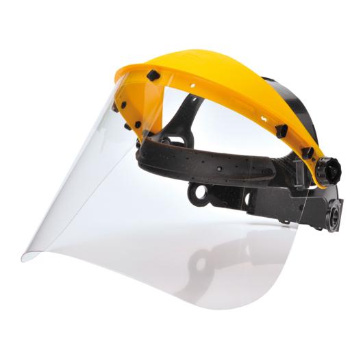PW91 - Arcvédő homlokpánttal - víztiszta ( fejpánt+plexi )