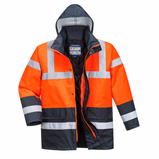 S466R/N Kontraszt Traffic kabát PIROS/KÉK