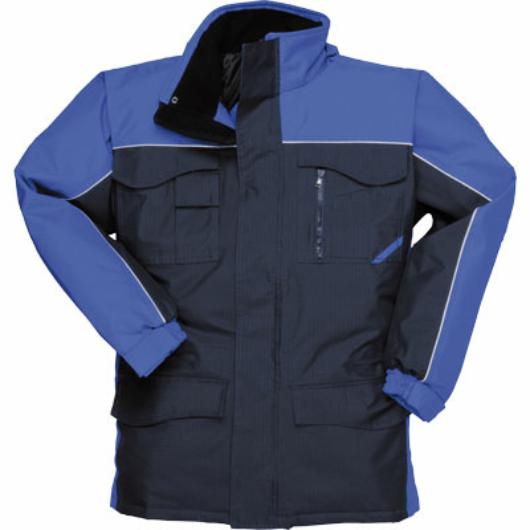 S562N-N/RB Ripstop kéttónusú kabát sötétkék/királykék