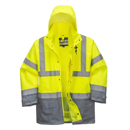 S768Y/G-R/B Jól láthatósági lélegző 5az1-ben kabát