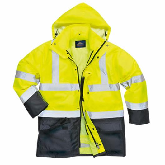 S768Y/N-O/N Jól láthatósági lélegző 5az1-ben kabát