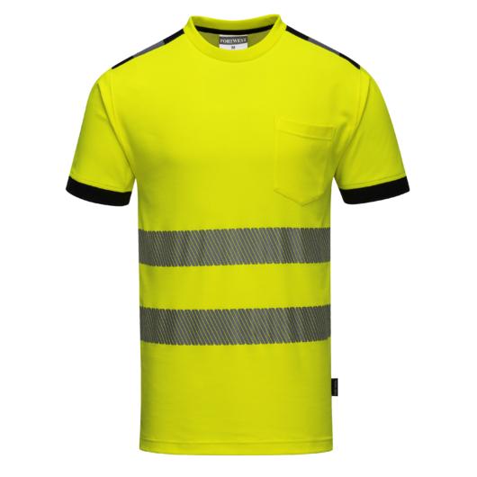 T181Y-O Jól láthatósági Vision póló